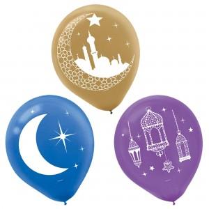 Eid Celebration Latex Balloons, 15Ct.