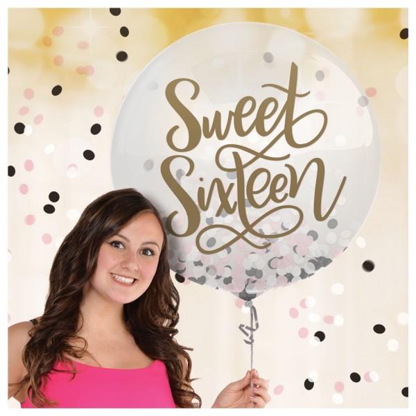 Sweet 16 Confetti Balloon - 24In