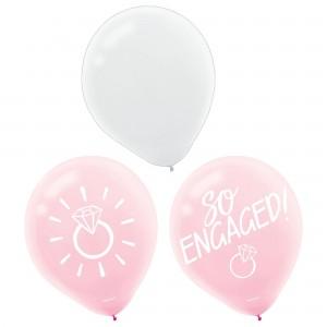 Blush Wedding Latex Balloons - 15Pk