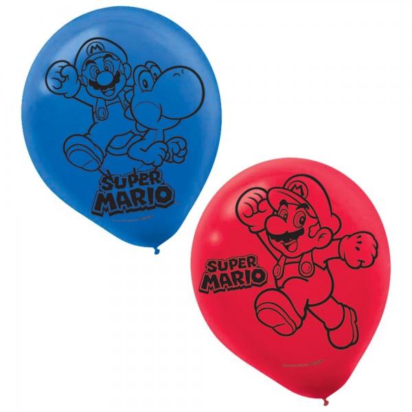 Super Mario Brothers Printed Latex Balloons