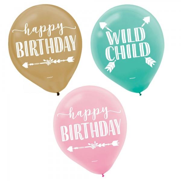 Boho Latex Balloons - 15Pcs