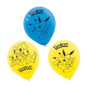 Pokemon Latex Balloons - 6Pk