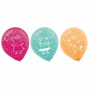 Peppa Pig Latex Balloons - 6Pk