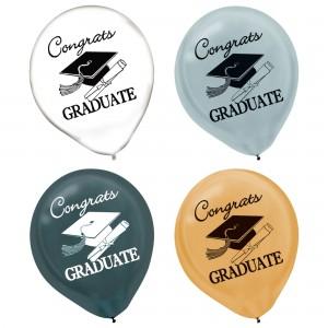 Grad Latex Balloons 15Pk