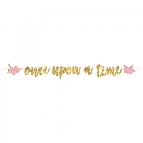 Once Apon A Time Glitter Banner