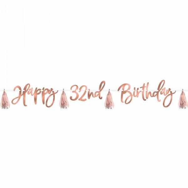 Blush Birthday Banner Kit