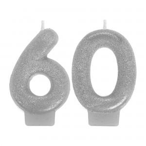 Sparkling Celebration 60 Numeral Candle