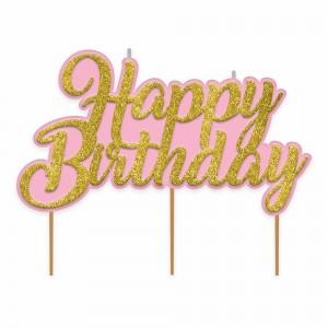 Confetti Fun Glitter Birthday Pick Candle
