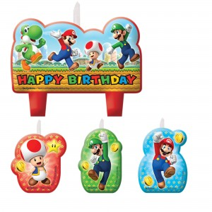 Super Mario Brothers Birthday Candle Set