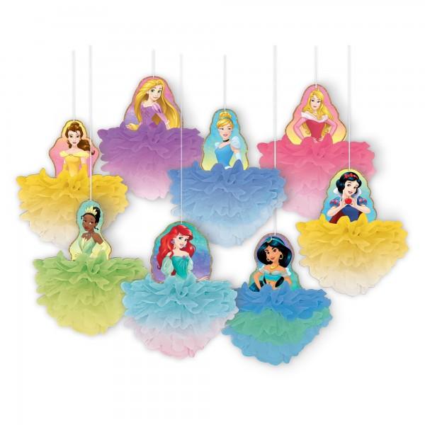 Disney Princess Fluffy Decorations - 8Pcs