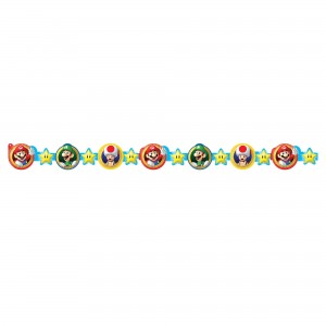 Super Mario Brothers Die - Cut Paper Garland