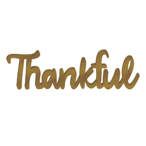 Thankful Script Sign