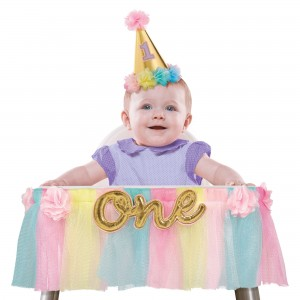 Deluxe High Chair Decoration - Girl