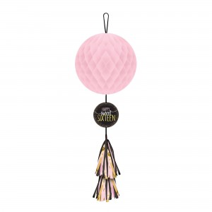 Blush Sweet 16 Hanging Honeycomb
