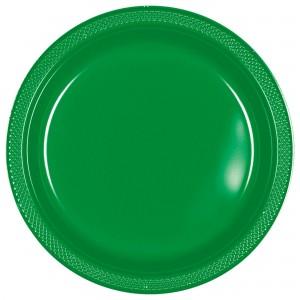 7In Plastic Plates - Pastel Blue