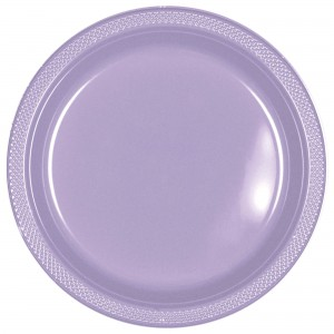 7In Plastic Plates - Robins Egg