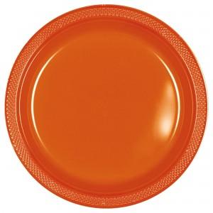 7In Plastic Plates - Silver