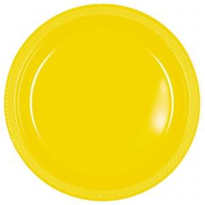 7In Plastic Plates - Yellow Sunshine