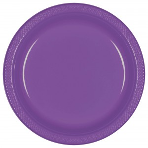 7In Plastic Plates - Purple