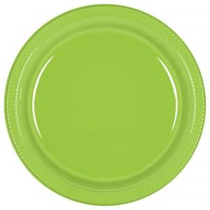 10In Plastic Plates - Orange Peel