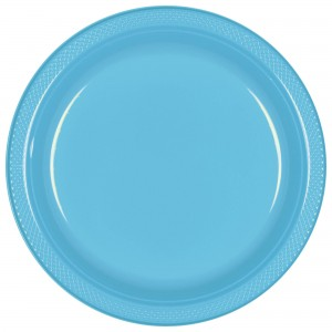10In Plastic Plates 20Ct - Frosty White
