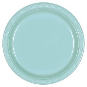 10In Plastic Plate 20 Ct - Vanilla Cream