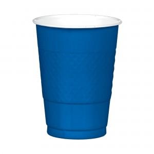 16 oz Plastic Cups - Bright Royal Blue