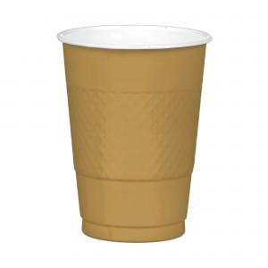 16 oz Plastic Cups - Gold