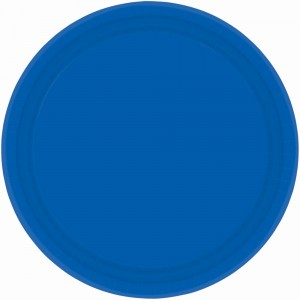 7In Paper Plates - Bright Royal Blue