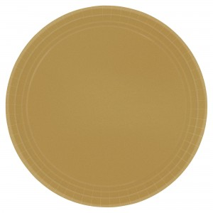 7In Paper Plates - Gold