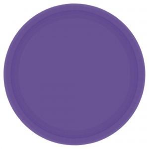 7In Paper Plates - Purple