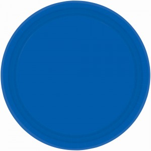 9In Paper Plates - Bright Royal Blue