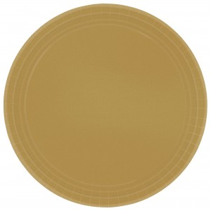 9In Paper Plates - Gold