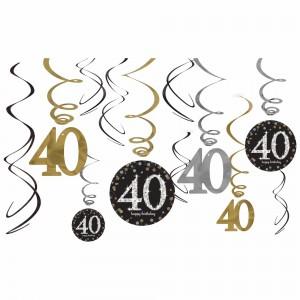 Sparkling Celebration 40 Value Pack Foil Swirl Decorations