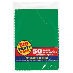 Placemats 50Ct Fstv Green Bpp/Disc