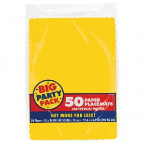 Placemats 50Ct Vanilla Creme/Disc