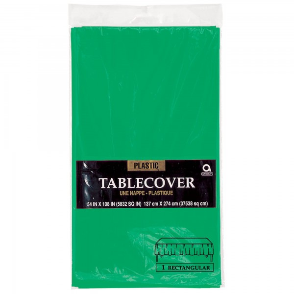 Plastic Rectangular Tablecover - Pastel Blue
