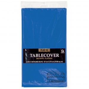 Plastic Rectangle Tablecover - Caribbean Blue