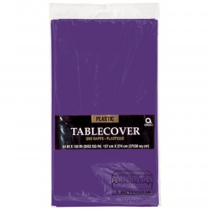 Plastic Round Tablecover - Lavender