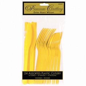 Premium Asst Cutlery - Caribbean Blue