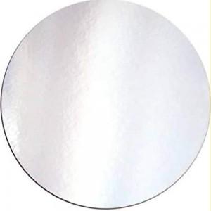 "Enjay 8"" Round Silver Cake Board, Each"